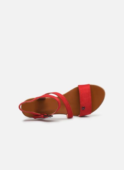 Sandalen Chattawak MAELLE rot ansicht von links