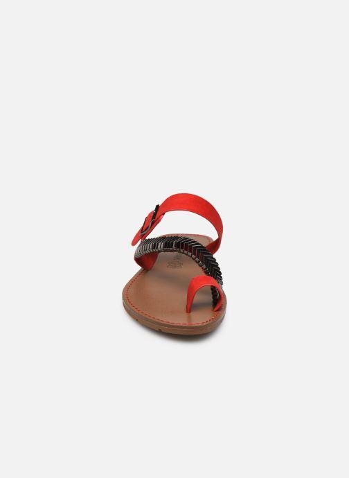 Mules et sabots Chattawak MAGNOLIA Rouge vue portées chaussures