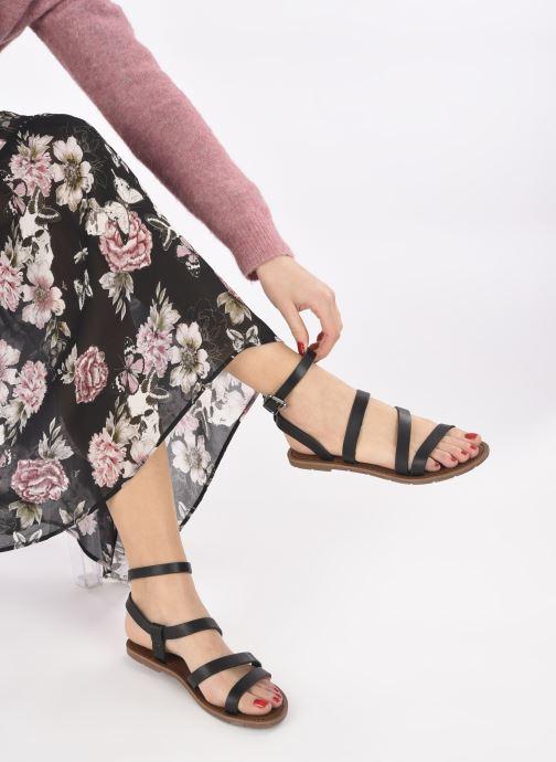 Sandales et nu-pieds Chattawak MALLORY Noir vue bas / vue portée sac