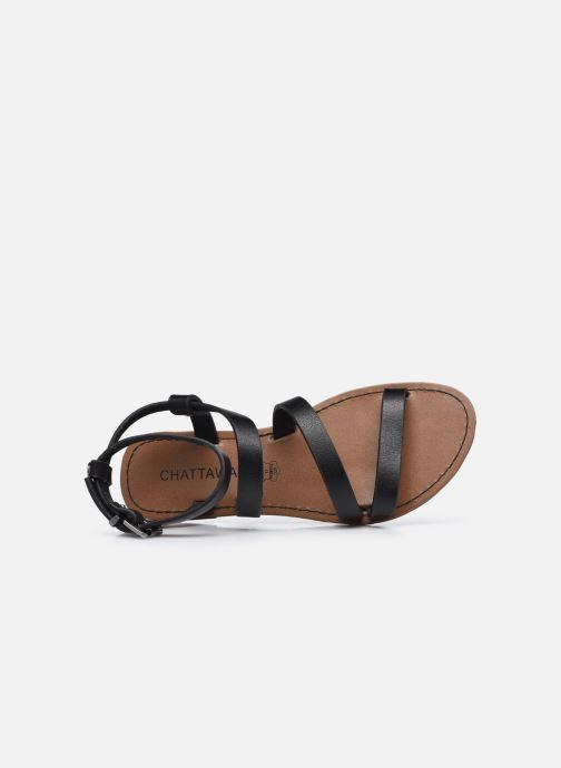 Sandales et nu-pieds Chattawak MALLORY Noir vue gauche
