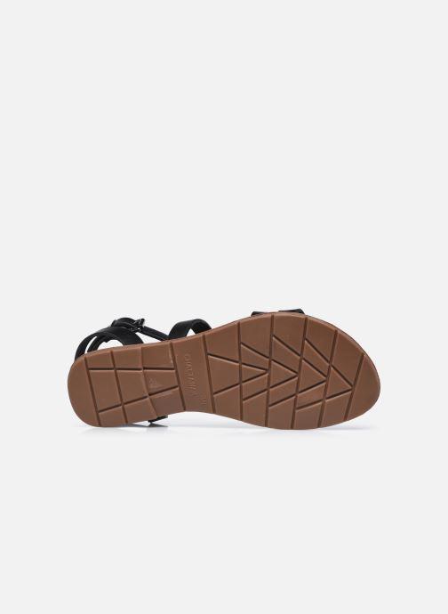 Sandales et nu-pieds Chattawak MALLORY Noir vue haut