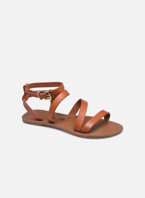 Sandales et nu-pieds Chattawak MALLORY Marron vue détail/paire