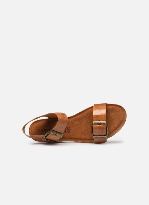 Sandales et nu-pieds Chattawak MARIELLE Marron vue gauche