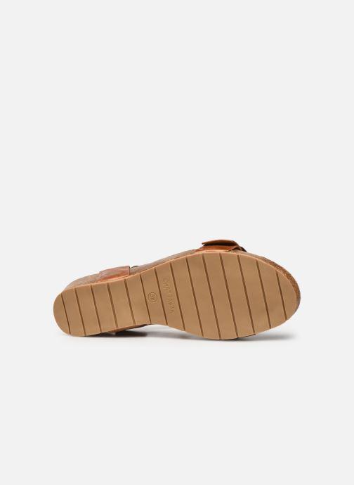 Sandales et nu-pieds Chattawak MARIELLE Marron vue haut