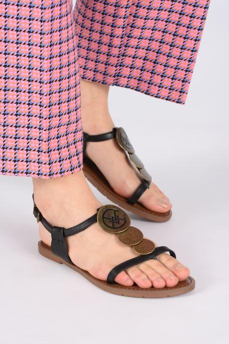 Sandalen Chattawak MELANIE schwarz ansicht von unten / tasche getragen