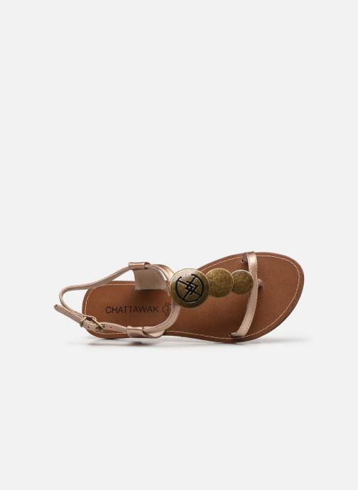 Sandali e scarpe aperte Chattawak MELANIE Oro e bronzo immagine sinistra
