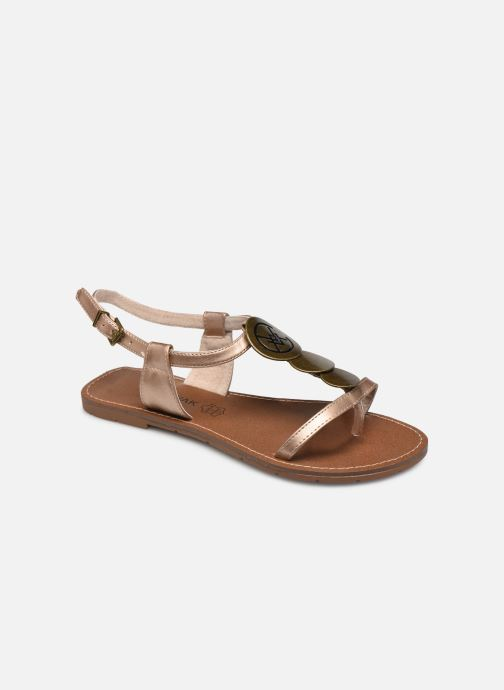 Sandals Chattawak MELANIE Bronze and Gold detailed view/ Pair view