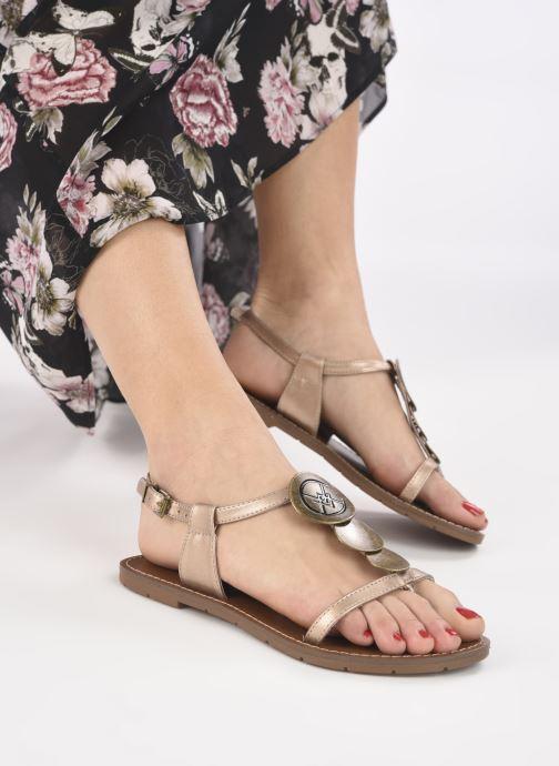 Sandales et nu-pieds Chattawak MELANIE Or et bronze vue bas / vue portée sac
