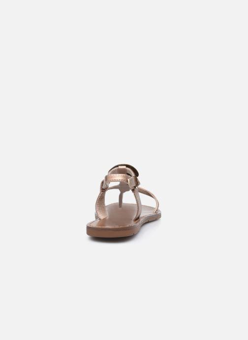 Sandales et nu-pieds Chattawak MELANIE Or et bronze vue droite