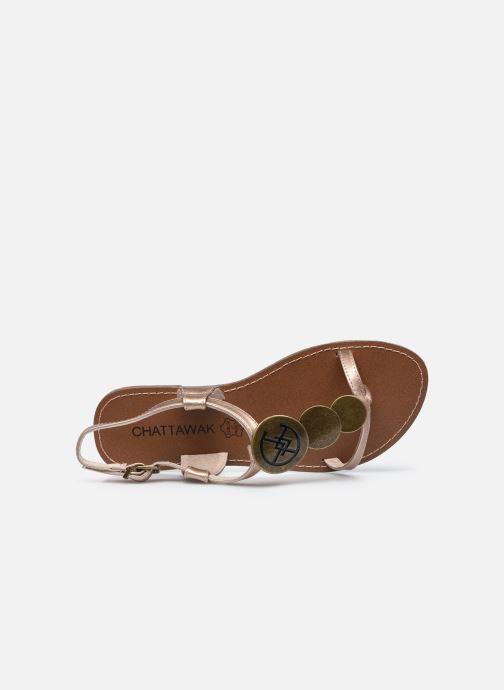 Sandales et nu-pieds Chattawak MELANIE Or et bronze vue gauche