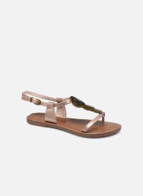 Sandales et nu-pieds Chattawak MELANIE Or et bronze vue détail/paire