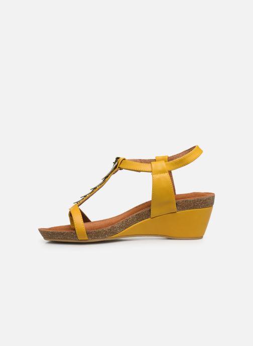 Sandales et nu-pieds Chattawak MILA Jaune vue face