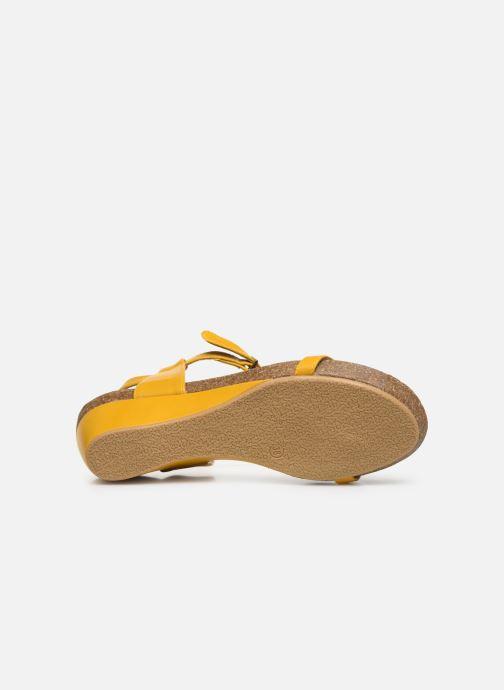 Sandales et nu-pieds Chattawak MILA Jaune vue haut