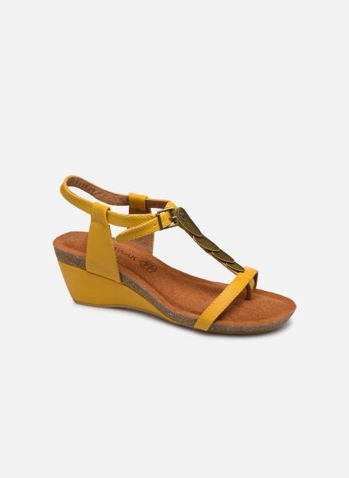 Sandales et nu-pieds Chattawak MILA Jaune vue détail/paire