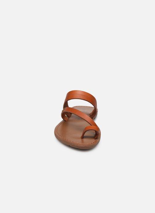 Sandales et nu-pieds Chattawak MISHA Marron vue portées chaussures