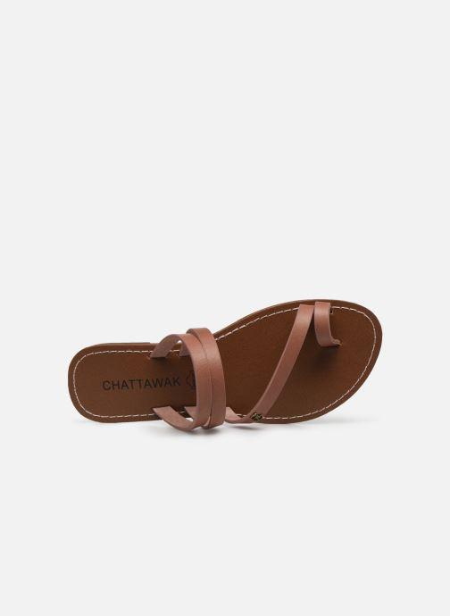 Sandali e scarpe aperte Chattawak MISHA Rosa immagine sinistra