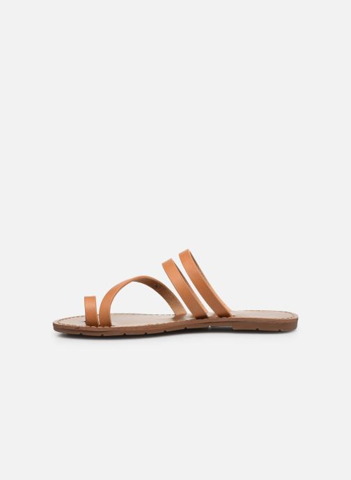 Sandales et nu-pieds Chattawak MISHA Marron vue face