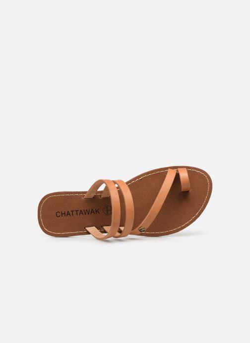 Sandales et nu-pieds Chattawak MISHA Marron vue gauche