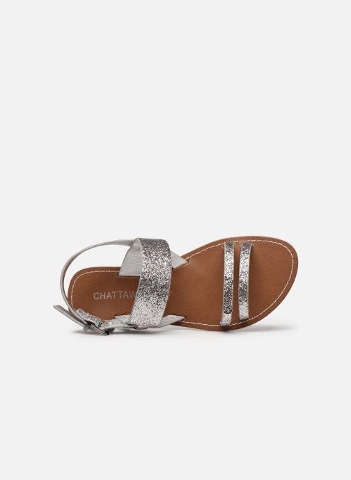 Sandales et nu-pieds Chattawak MONIA Argent vue gauche