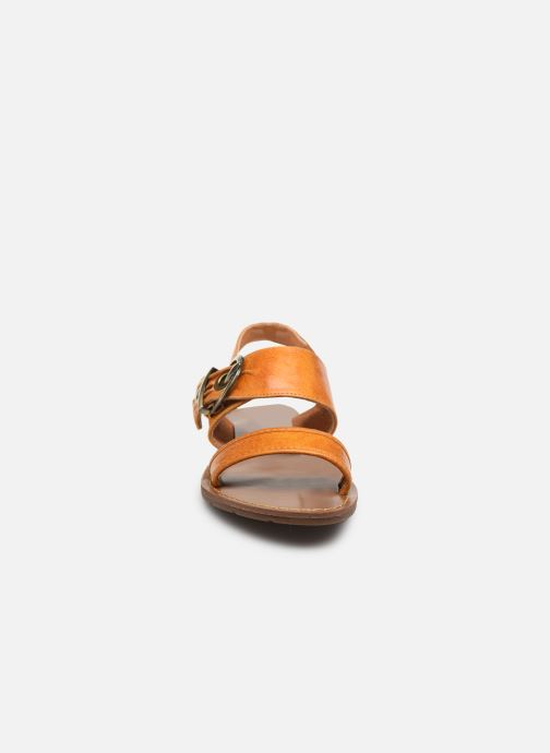 Sandalen Chattawak NAOMI gelb schuhe getragen