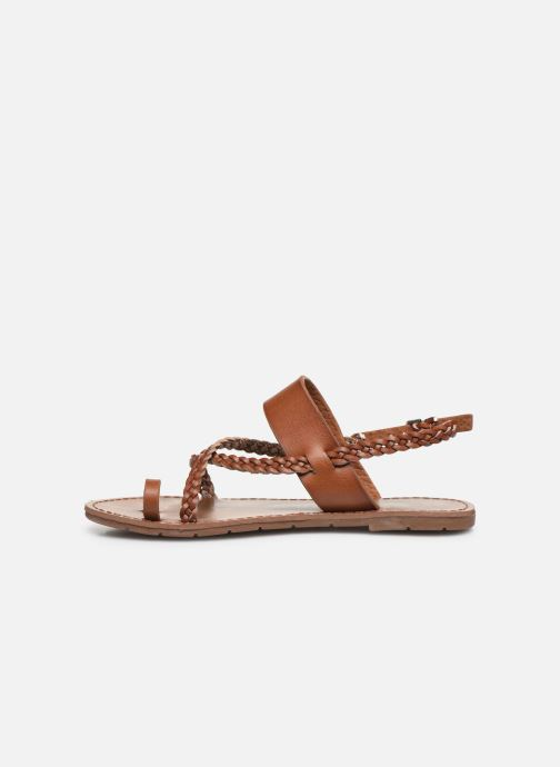 Sandals Chattawak OLYMPE Brown front view