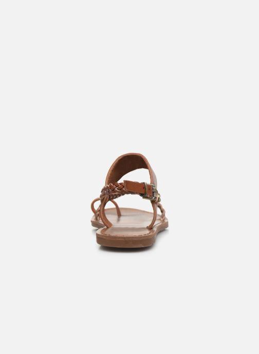 Sandales et nu-pieds Chattawak OLYMPE Marron vue droite
