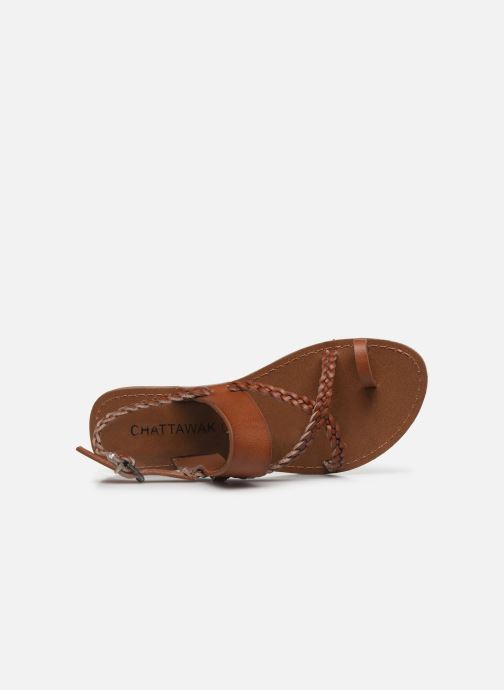 Sandales et nu-pieds Chattawak OLYMPE Marron vue gauche