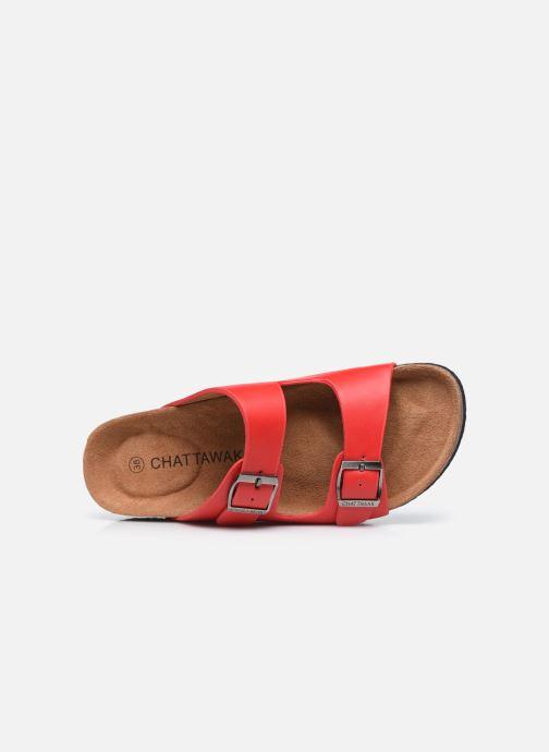 Clogs & Pantoletten Chattawak ORPHEE rot ansicht von links