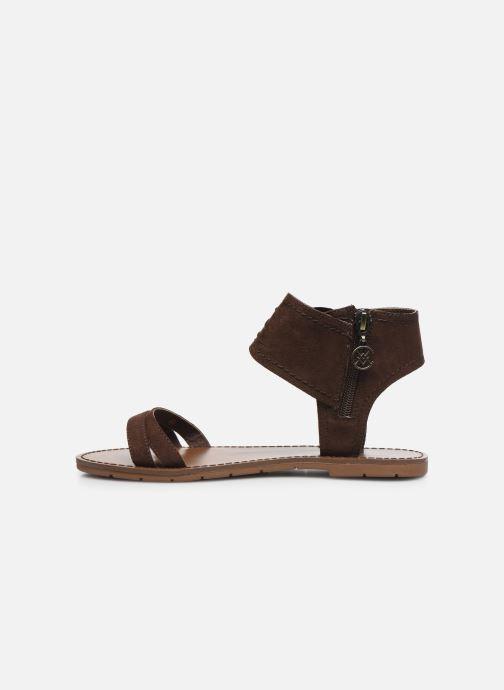 Sandales et nu-pieds Chattawak PACOME Marron vue face