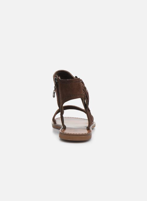 Sandales et nu-pieds Chattawak PACOME Marron vue droite