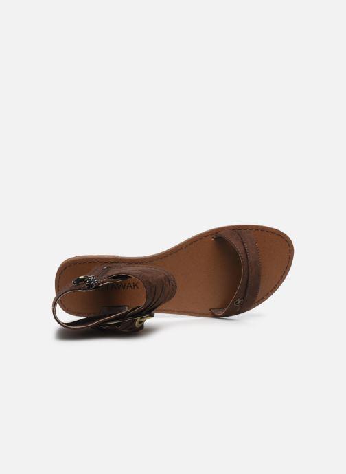 Sandales et nu-pieds Chattawak PACOME Marron vue gauche