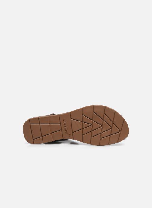 Sandales et nu-pieds Chattawak PACOME Marron vue haut
