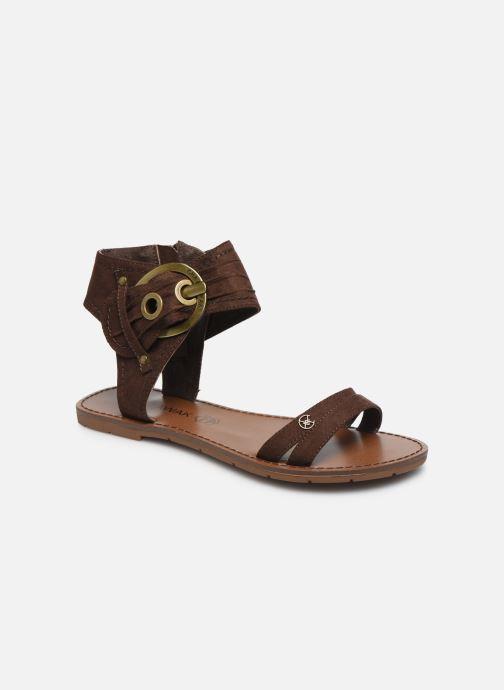 Sandales et nu-pieds Chattawak PACOME Marron vue détail/paire