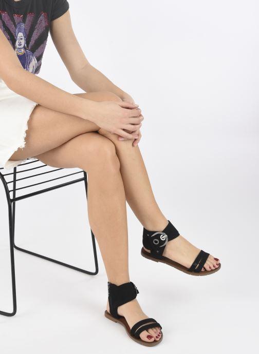 Sandales et nu-pieds Chattawak PACOME Noir vue bas / vue portée sac