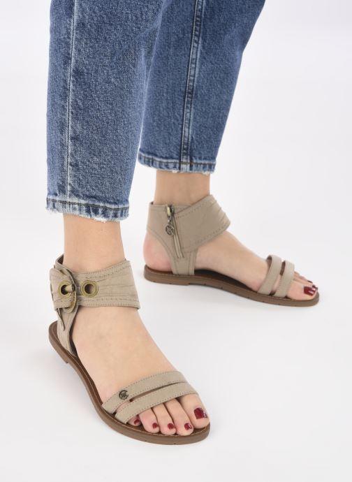 Sandales et nu-pieds Chattawak PACOME Beige vue bas / vue portée sac