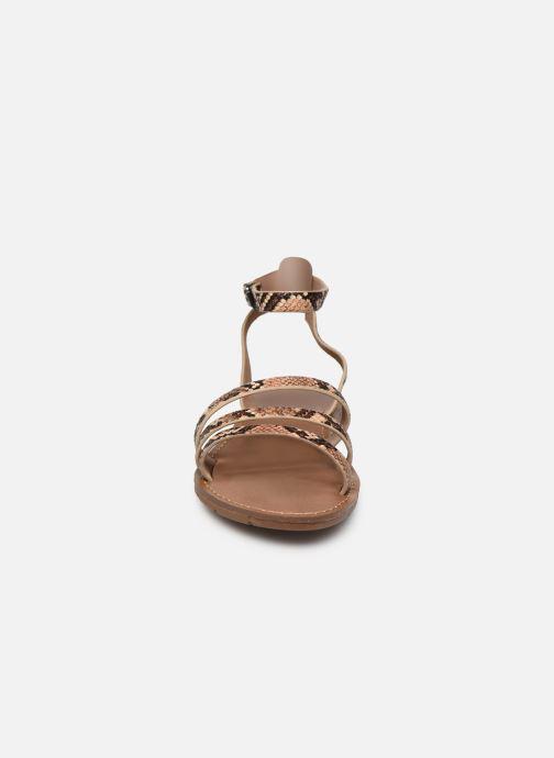 Sandales et nu-pieds Chattawak PAGO Marron vue portées chaussures