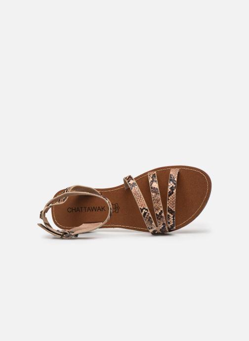 Sandales et nu-pieds Chattawak PAGO Marron vue gauche