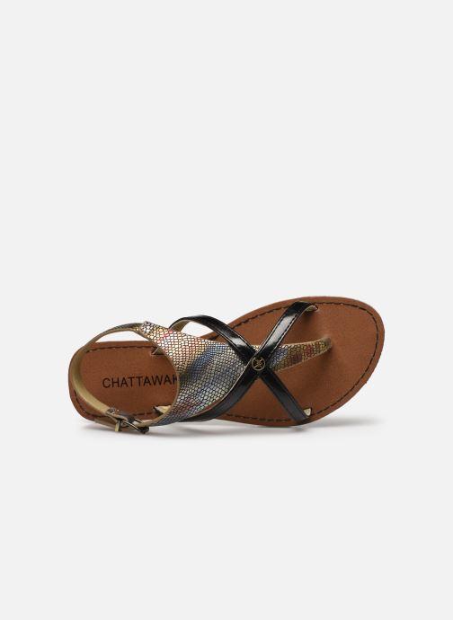 Sandali e scarpe aperte Chattawak PATOU Nero immagine sinistra