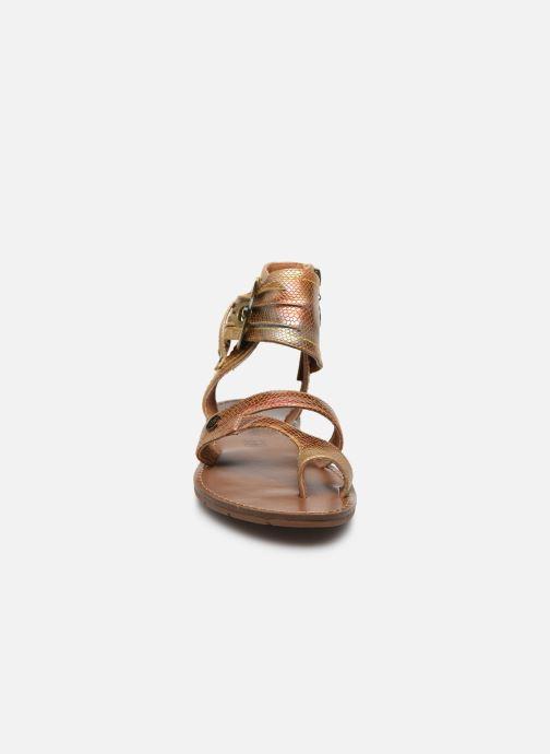 Sandales et nu-pieds Chattawak PENSEE Orange vue portées chaussures