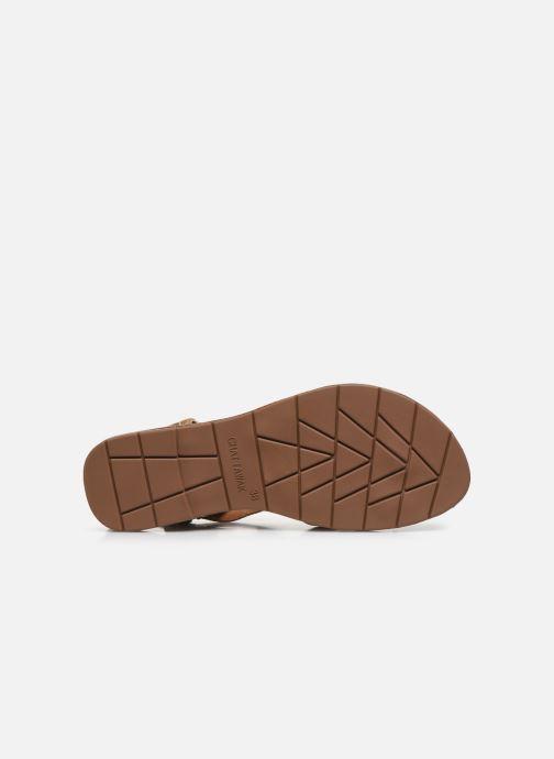 Sandales et nu-pieds Chattawak PENSEE Orange vue haut