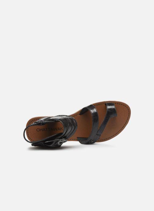 Sandales et nu-pieds Chattawak PENSEE Noir vue gauche
