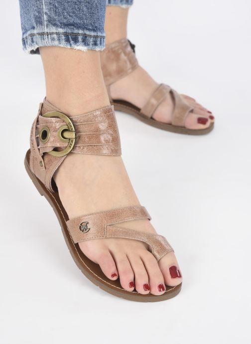 Sandales et nu-pieds Chattawak PENSEE Marron vue bas / vue portée sac