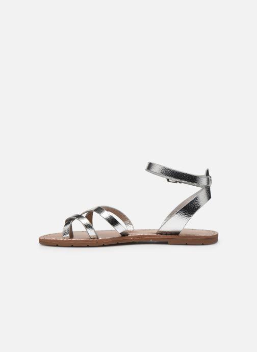 Sandales et nu-pieds Chattawak PERLA Argent vue face