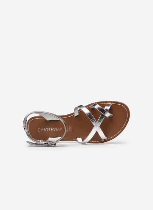 Sandales et nu-pieds Chattawak PERLA Argent vue gauche
