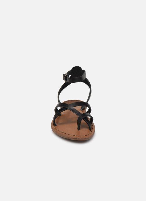 Sandales et nu-pieds Chattawak PERLA Noir vue portées chaussures