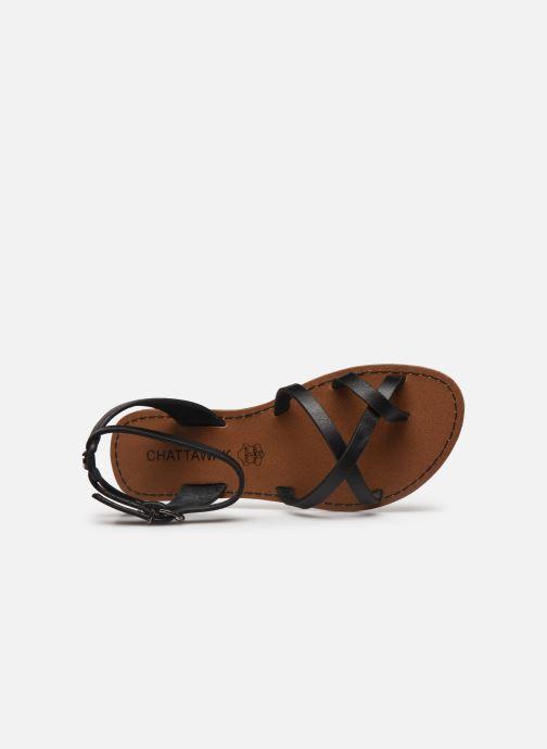 Sandales et nu-pieds Chattawak PERLA Noir vue gauche