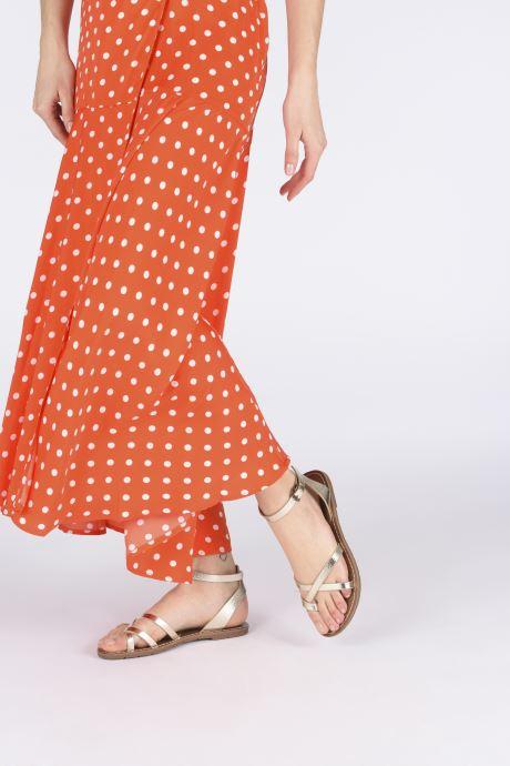 Sandales et nu-pieds Chattawak PERLA Or et bronze vue bas / vue portée sac