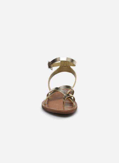Sandales et nu-pieds Chattawak PERLA Or et bronze vue portées chaussures
