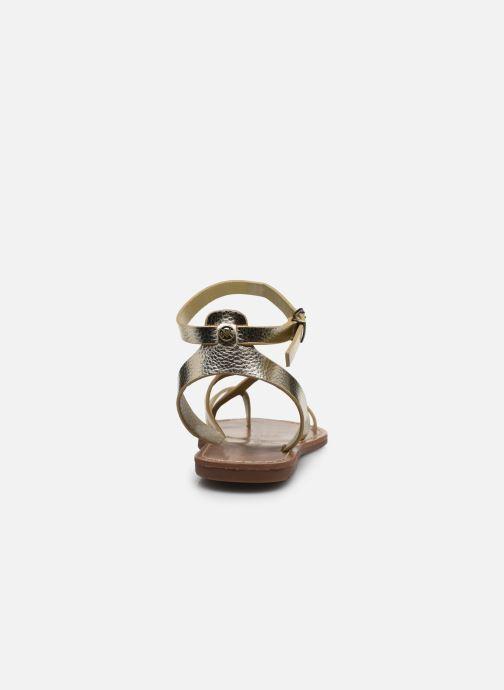 Sandalen Chattawak PERLA gold/bronze ansicht von rechts