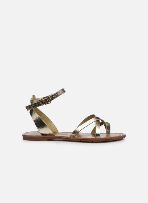 Sandales et nu-pieds Chattawak PERLA Or et bronze vue derrière